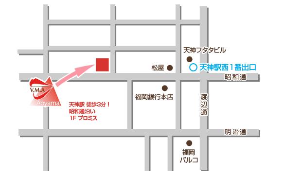 福岡 天神校アクセス地図
