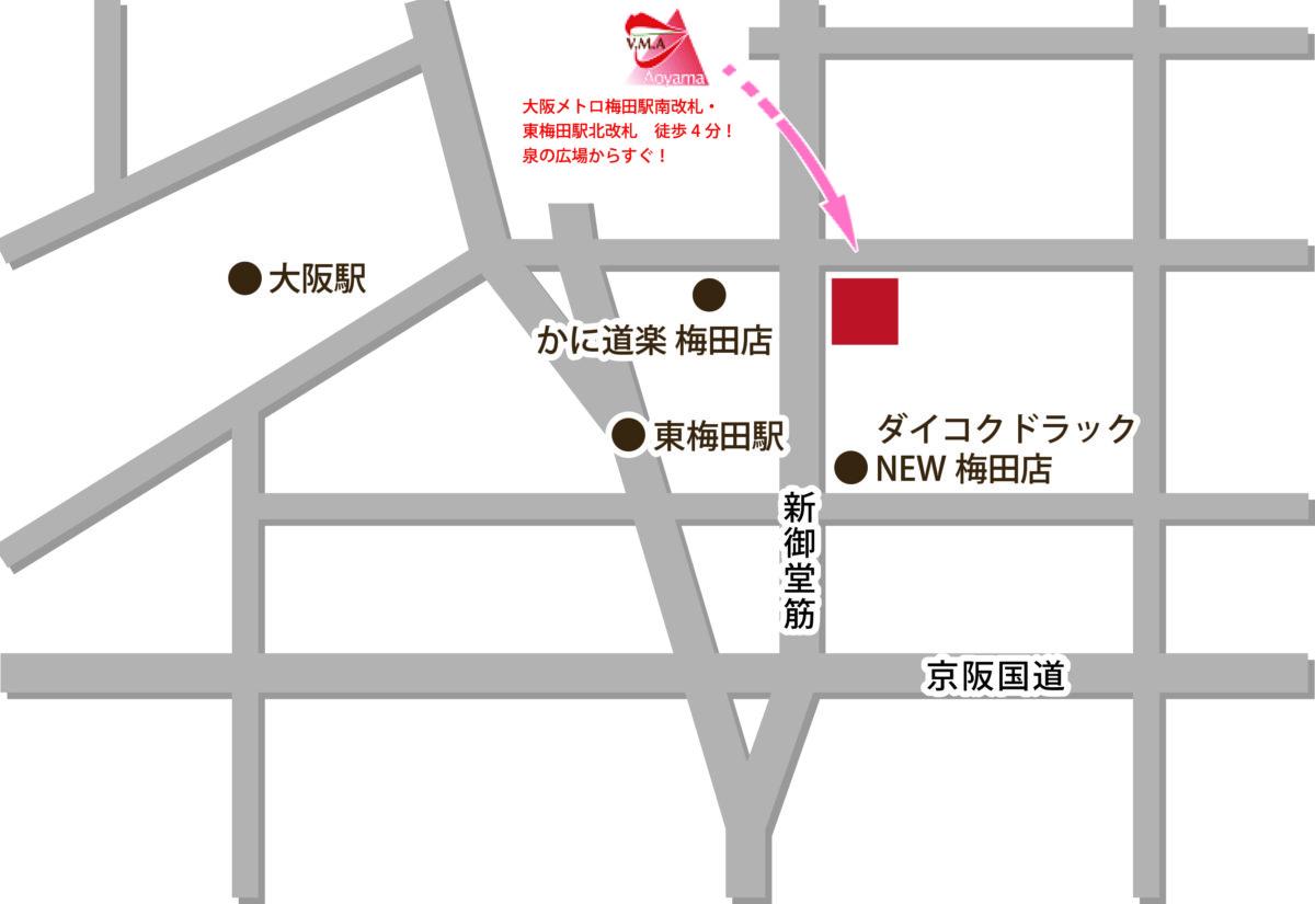 地図 大阪・梅田校